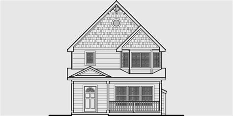 front view house plans victorian narrow lot house plan front bay window
