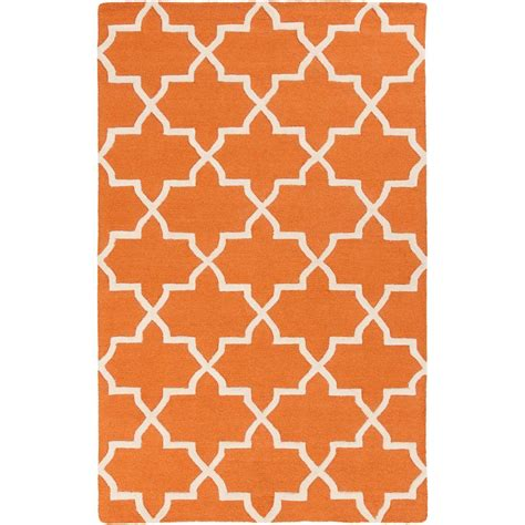 artistic weavers purity sydney orange 4 ft x 6 ft
