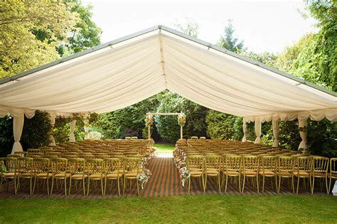 Wedding Blessing Outside by Marquee Wedding Blessing And Marquee Reception With Lanterns