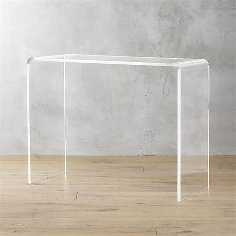 Peekaboo Acrylic Console Table Cb2 Clear Acrylic Sofa Table