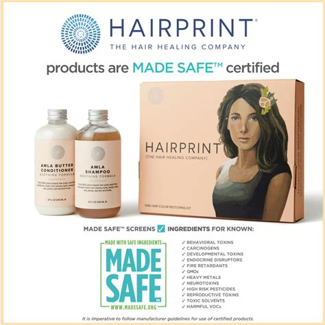 best and safest hair color products hairprint becomes first made safe certified hair coloring