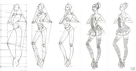design clothes step by step sketch of fashion design 2 step by step by vegakavgk on