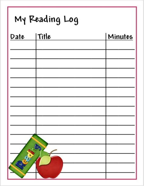 printable reading log cap creations printable reading log