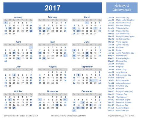 2017 yearly calendar blank minimal design calendar stuff