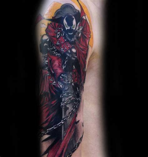 spawn tattoo 40 spawn designs for antihero ink ideas