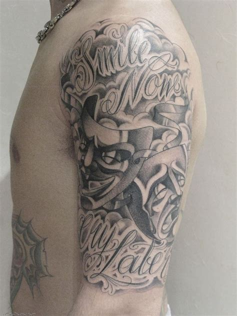 smile tattoo designs 26 best laugh now cry later skull designs images on