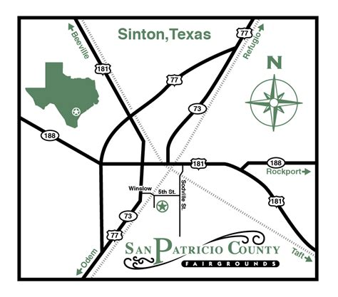 sinton texas map san patricio county fairgrounds