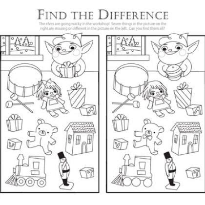printable christmas spot the difference games 25 best find the difference games images on pinterest