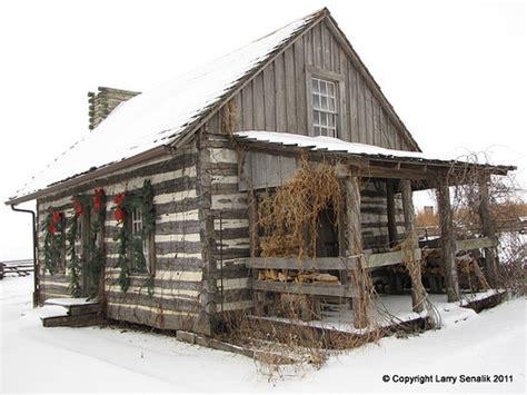 Winterizing A Cabin by Log Cabin In Winter Flickr Photo