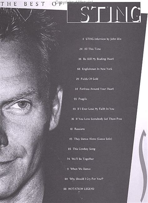 sting fields of gold best of fields of gold the best of sting 1984 1994 sheet
