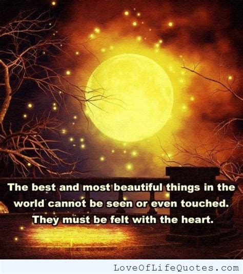 the best and most beautiful things love of life quotes