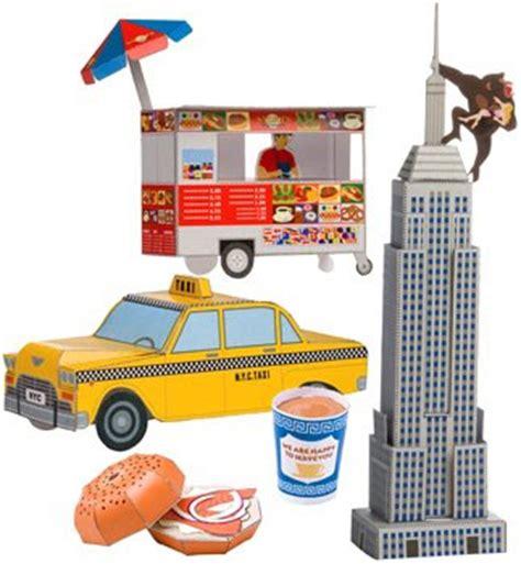 Papercraft City - new york city icons papercraft paperkraft net free