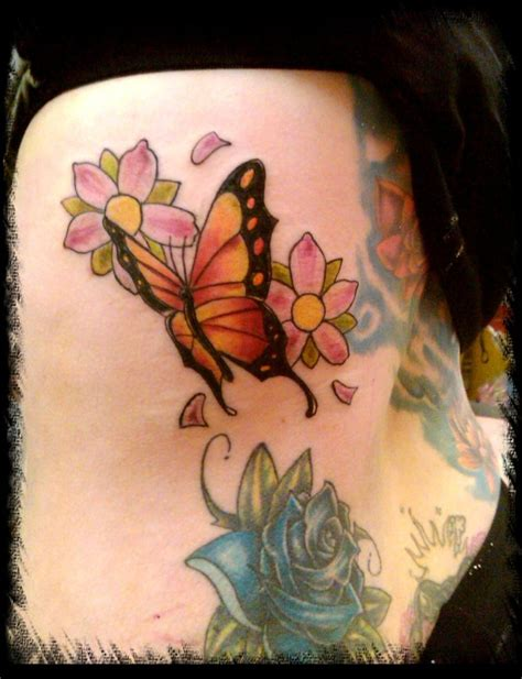 butterfly side tattoos 55 butterfly flower tattoos