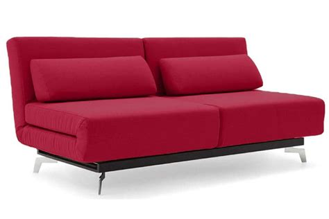 modern futon beds red modern sleeper sofa apollo red futon couch the