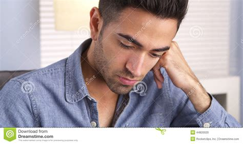 hispanic pictures mexican feeling sad and looking stock photo