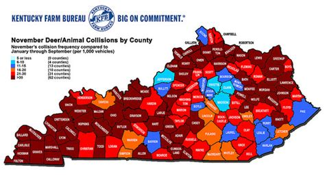 kentucky demographic map deer collision frequency map 2014 flickr photo