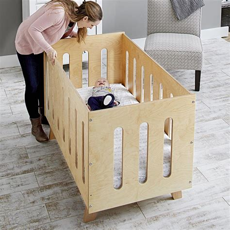 convertible crib plan  wood magazine