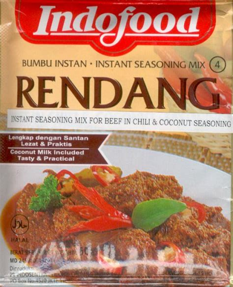 rendang beef  coconut  spices  oz  indofood