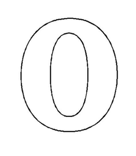 Number 0 Coloring Page by Free Coloring Pages Of Number 0 Cut Out