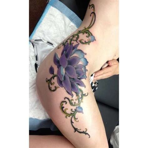 lotus tattoo side lotus side piece tattoo