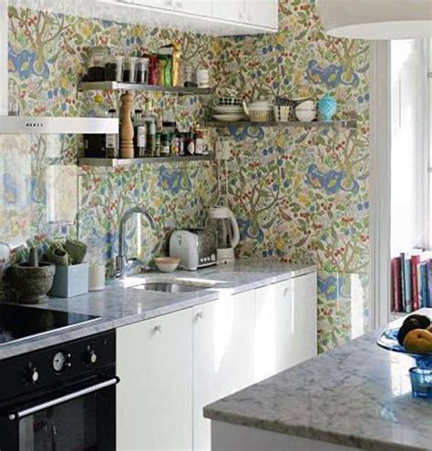 kitchen cute country kitchen wallpaper ideas for your 15 charminng kitchens with floral wallpaper rilane