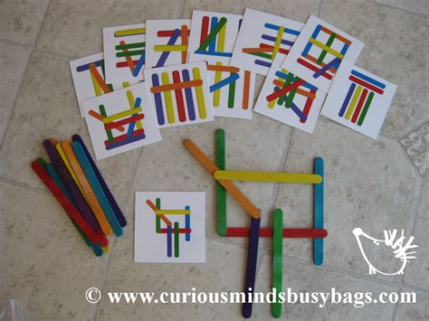 Popsicle Stick Pattern Cards Printable