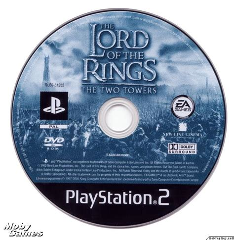 Disk Ps2 lotr the two towers ps2 disc lord of the rings photo 35210995 fanpop