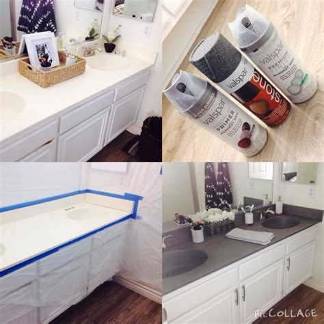 exquisite diy painting bathroom countertops using
