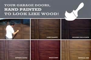 paint steel garage door to look like wood lighthouse