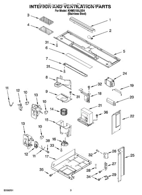 whirlpool microwave parts diagram whirlpool 6800 charcoal filter appliancepartspros