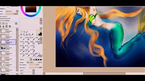 paint tool sai 2 vs 1 paint tool sai ver 1 1 0 drawing a mermaid in the water