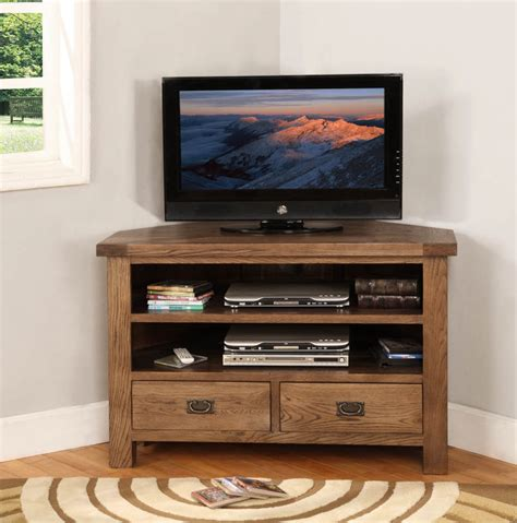 Furniture Corner Tv Stand by Solid Oak Furniture Rustic Corner Tv Stand Cabinet