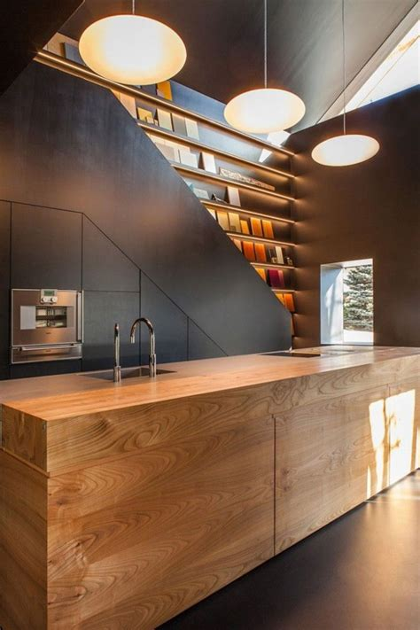 unique house architecture design with wooden material in 18 of the most unusual kitchen island design ideas