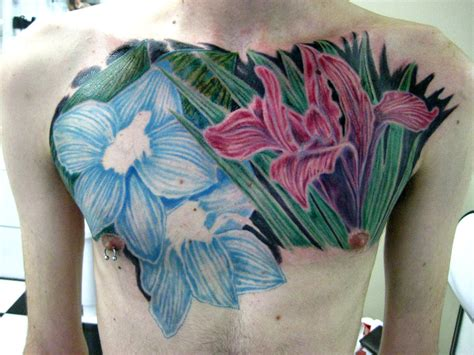 flower chest tattoos 21 bold flower tattoos on me now
