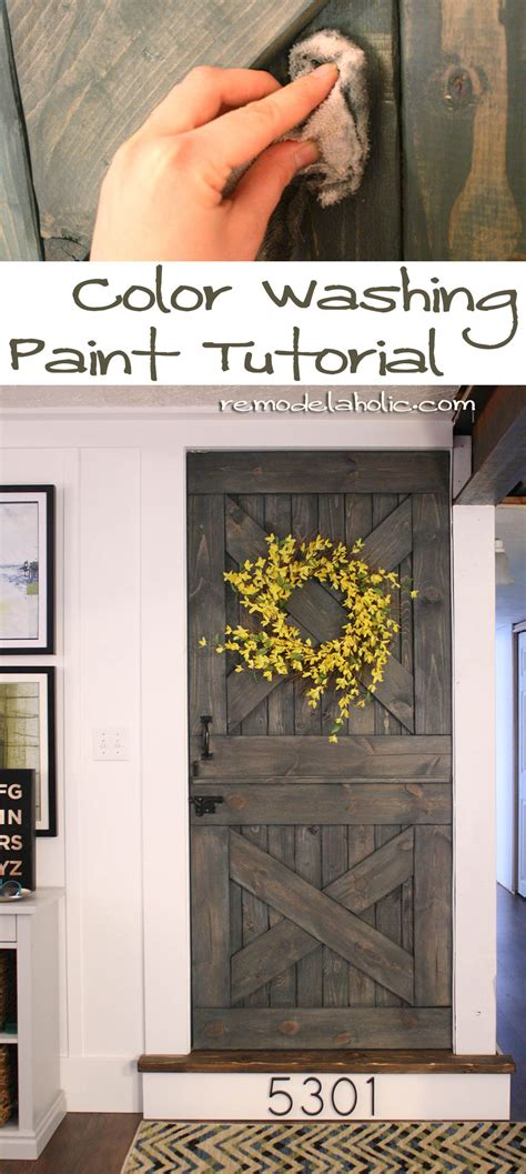 color washing the barn door construction home - How To Color Wash Wood