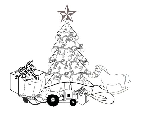 western themed christmas tree with gifts picture