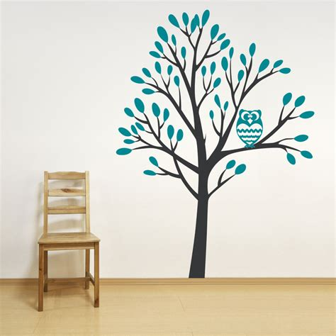 wall sticker decal owl in a tree wall decal