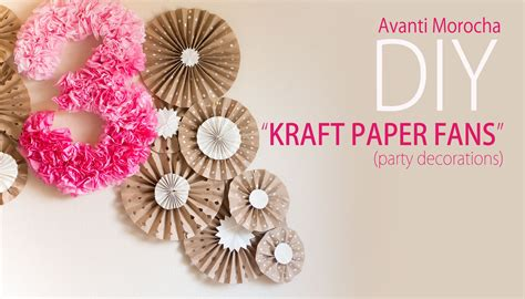 How To Make Decorative Paper Fans - diy kraft paper fans backdrop abanicos de papel