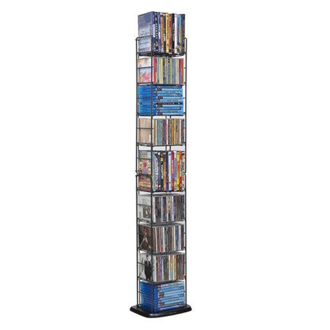 dvd racks atlantic folding 8 tier multimedia rack for cds dvds blu