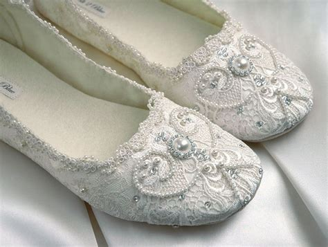 Brautschuhe Vintage Spitze by Wedding Shoes Bridal Ballet Flat Vintage Lace