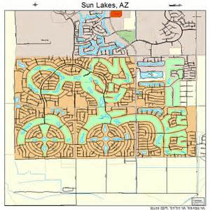 map of sun city arizona sun lakes arizona map 0470530
