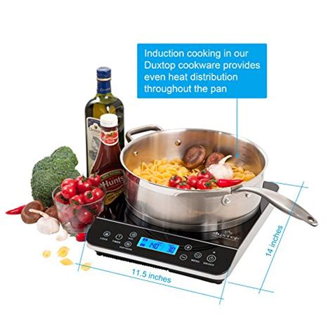 Duxtop 1800 Watt Portable Induction Cooktop Countertop Burner by Duxtop Lcd 1800 Watt Portable Induction Cooktop Countertop