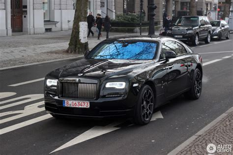 roll royce wraith black rolls royce wraith black badge 4 february 2017 autogespot