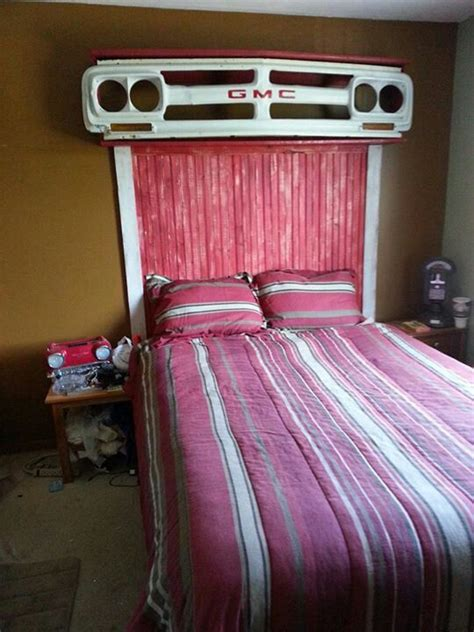 bedroom ford room on pinterest vintage car bed and grey truck grille headboard repurpose project ideas pinterest