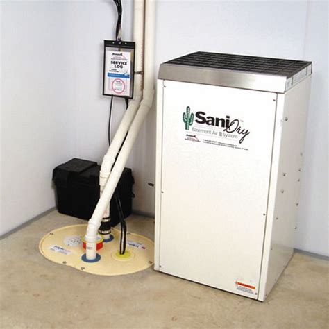 basement dehumidifier system sump installation in wisconsin six steps to