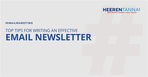 top tips writing effective email newsletter