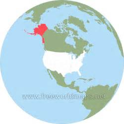 usa map in globe where is alaska located on the map