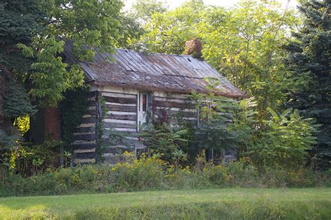 abandoned log cabin pennsylvania flickr photo