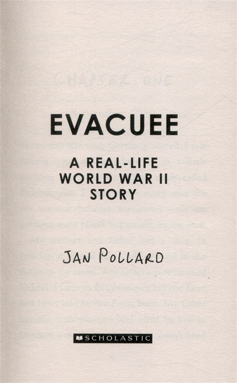 libro evacuee a real life evacuee a real life world war ii story by pollard jan 9781407157207 brownsbfs