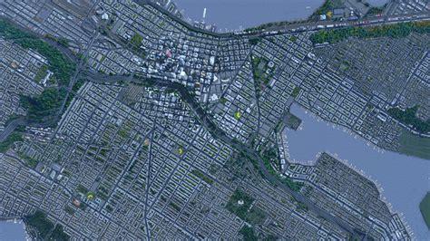 world map cities skylines cities skylines da seattle şehri baş sona yaratıldı